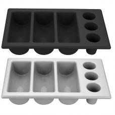 Stalo įrankių dėklas GN 1/1 - juodas - 530x325x105 mm - 552360