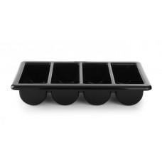 Stalo įrankių dėklas GN 1/1 - juodas - 530x325x100 mm - 552315