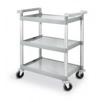 3 lentynų serviravimo vežimėlis iš polipropileno - 800x410x950 mm - 810200
