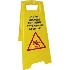 Informacinis ženklas - dėmesio! Slidžios grindys - 300x615 mm - 663950
