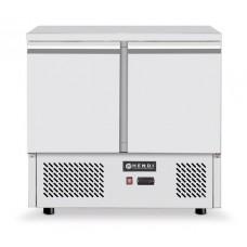 2 durų šaldymo stalas, agregatas įmontuotas apačioje - 900x700x880 mm - 232019