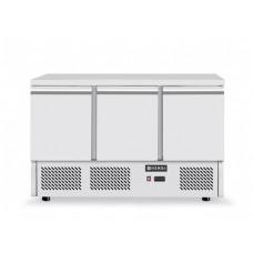 3 durų šaldymo stalas, agregatas įmontuotas apačioje - 1365x700x880 mm - 232026