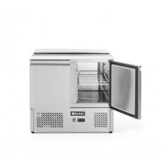 2 durų šaldymo stalas saladetta su atidaromu dangčiu - 900x698x888 mm - 232804