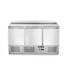3 durų šaldymo stalas saladetta su atidaromu dangčiu - 1365x700x888 mm - 232811