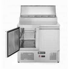 2 durų šaldymo stalas saladetta su antstatu - 900x700x1040 mm - 232880
