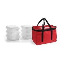 Picų pristatymo krepšys 6 maisto dėžės - 450x290x300 mm - 709849