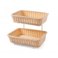 Stačiakampio formos duonos ir bandelių krepšelis gn 1/2 - 360x280x90/315 mm - 561201