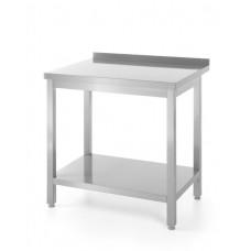 Surenkamas, prie sienos pastatomas pjaustymo stalas su lentyna - 800x600x850 mm - 811450