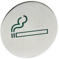 Ant durų tvirtinama informacinė lentelė - rūkymo vietos - 75 mm - 663783